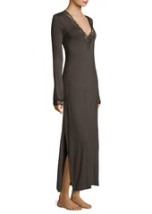 Natori Lace-Trimmed Lounger Gown