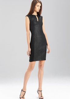 Lacquered Basket Weave Dress