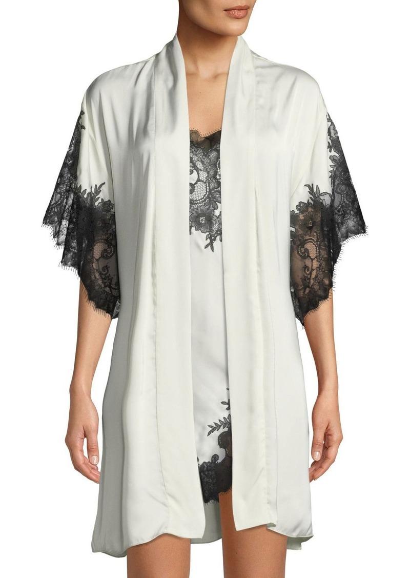 L'Amour Lace-Trim Short Robe