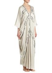 Natori Linear Silk Couture Caftan