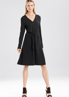 Matte Jersey Self Tie Dress