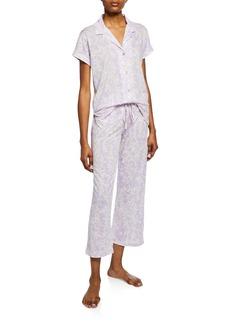 Natori Melody Floral-Print Short-Sleeve Pajama Set
