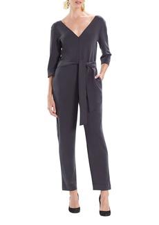 Natori Mia Sanded Jersey Tie-Waist Jumpsuit