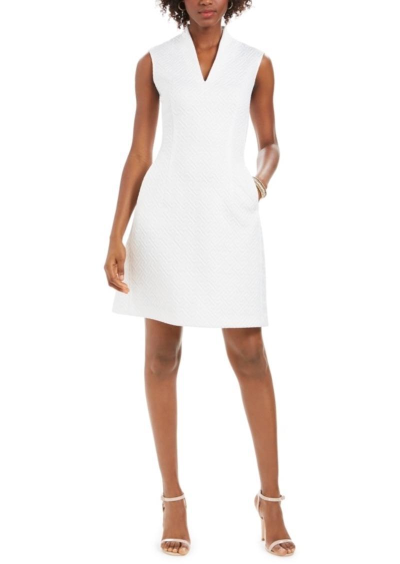 N Natori Quilted Maze-Knit Sheath Dress