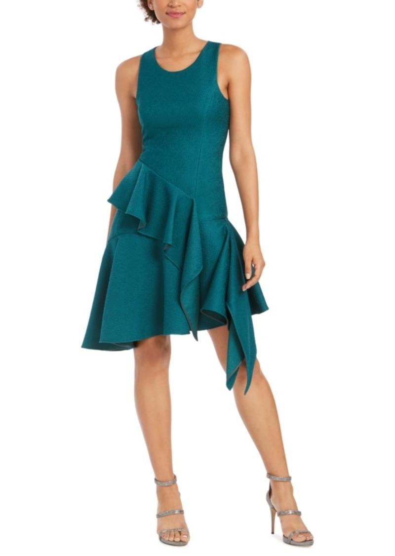 N Natori Ruffled Asymmetrical A-Line Dress