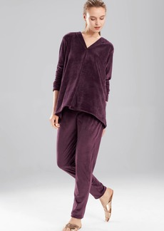 N Natori Velour Long Sleeve Top