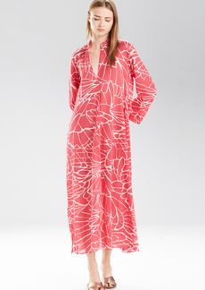 Natori Abstract Butterfly Long Sleepshirt