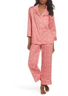 Natori Abstract Maze Sateen Pajamas