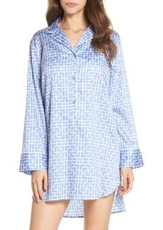 Natori Abstract Maze Sateen Sleep Shirt
