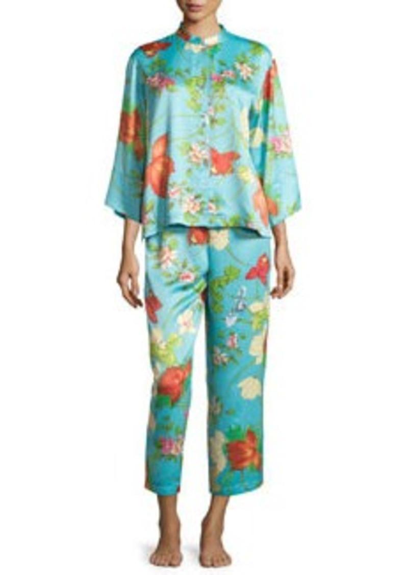 Natori Peranakan Floral-Print Satin Pajama Set