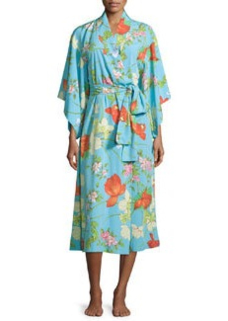 Natori Peranakan Floral-Print Long Robe
