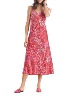 Natori Animal Print Satin Nightgown