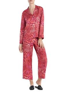Natori Animal Print Satin Pajama Set