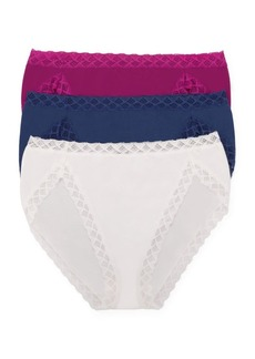 Natori Bliss 3-Pack French Cut Cotton Panties Set