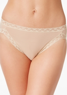 Natori Bliss French-Cut Lace-Trim Cotton Brief 152058