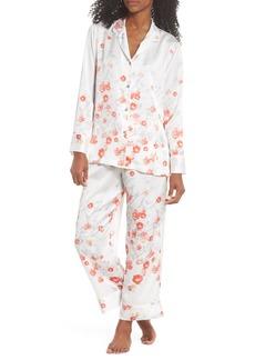 Natori Blossom Print Satin Pajamas