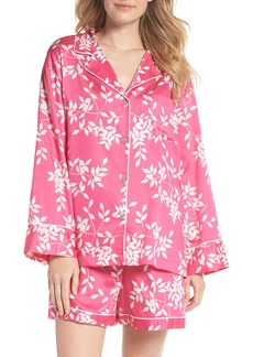 Natori Branch Print Cotton Sateen Short Pajamas