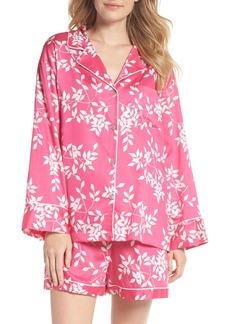 Natori Branch Print Cotton Sateen Short Pajamas