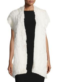 Natori Cap-Sleeve Fur Vest