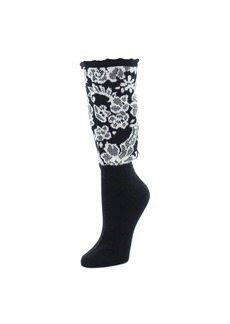 Natori Damask Boot Topper Crew Socks