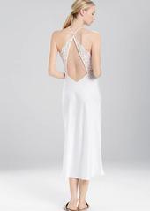 Natori Deco Feathers Satin Gown