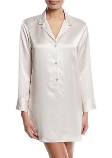 Natori Edo Long-Sleeve Silk Sleepshirt