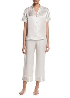 Natori Edo Short-Sleeve Silk Pajama Set