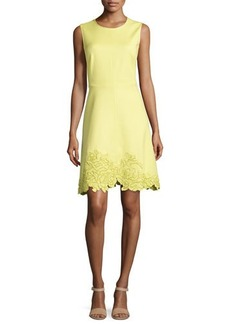Natori Embroidered-Hem Spring Dress