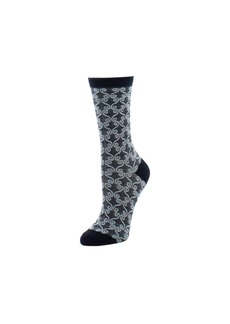Natori Etched Geo Crew Socks