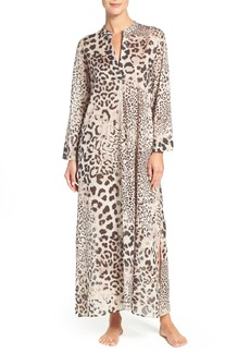 Natori 'Exotic Animal' Cotton Caftan