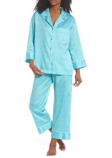 Natori Fan Print Cotton Pajamas