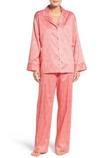 Natori Fan Satin Cotton Pajamas