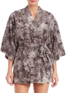 Natori Faux Fur Wrap Robe