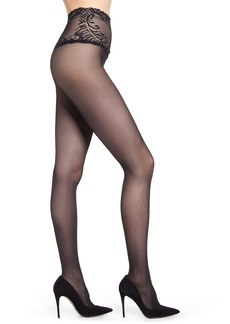 Natori Feathers Lace 2-Pack Top Pantyhose