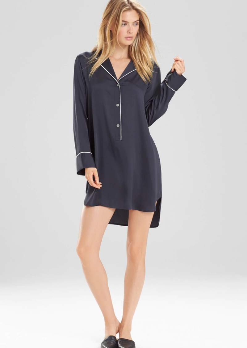 Natori Feathers Satin Sleepshirt