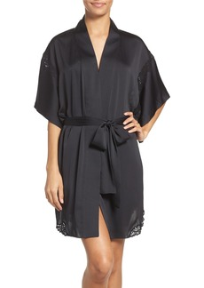 Natori Feathers Satin Wrap