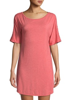 Natori Feathers Short-Sleeve Sleep Shirt