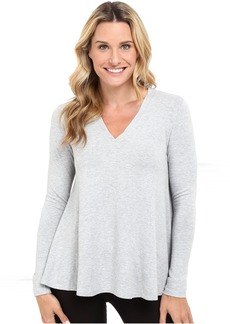 French Terry V-Neck Swing Top