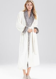 Natori Frosted Faux Fur Robe