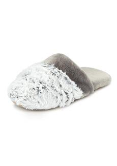 Natori Fuzzy-Trim Mule Slipper