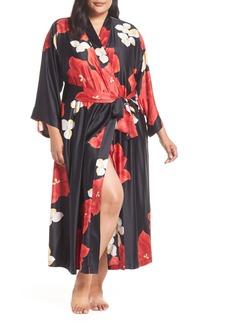 Natori Ginza Charmeuse Robe (Plus Size)