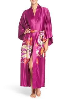 Natori 'Imperial' Floral Print Satin Robe