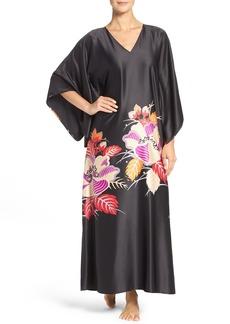 Natori 'Imperial' Floral Print Silk Blend Caftan