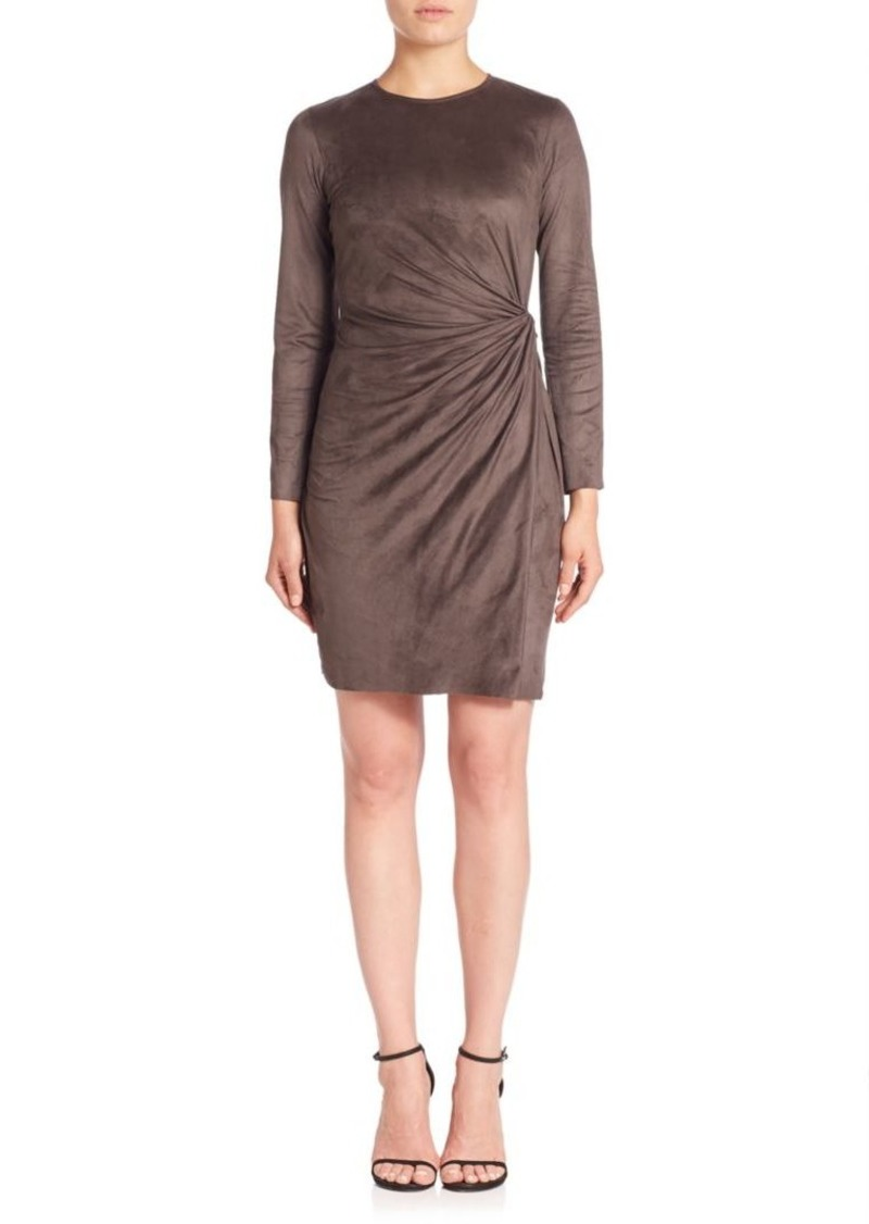 Natori Knot Faux Wrap Dress