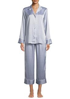 Natori Labrinth Satin Pajama Set