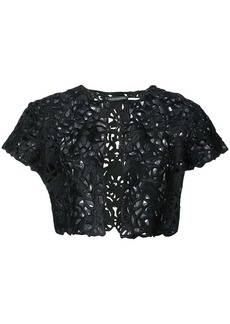 Natori lace detail bolero - Black