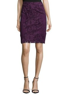 Natori Lace Pencil Skirt