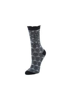 Natori Lace Trellis Crew Socks