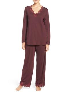 Natori Lace Trim Pajamas