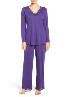 Natori Lace Trim Pajamas